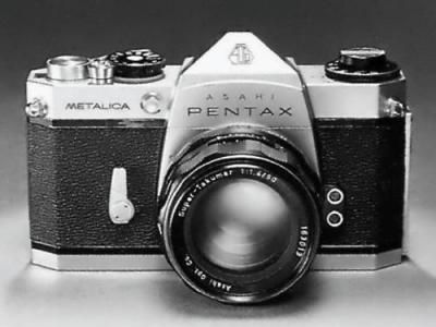 Photo of the prototype Pentax Metalica