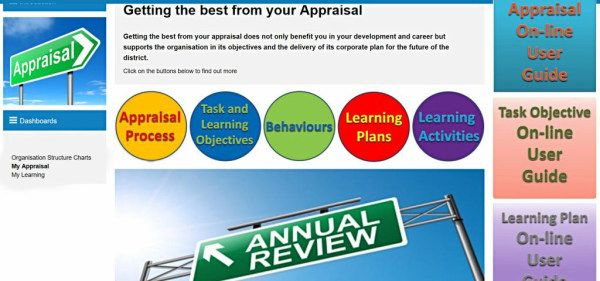 Firms intranet appraisals page looking like it had been designed in the 90s, lacking only flashing text and animations.
