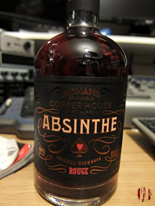 A bottle of absinthe made by Adnams who are better known for their beer.