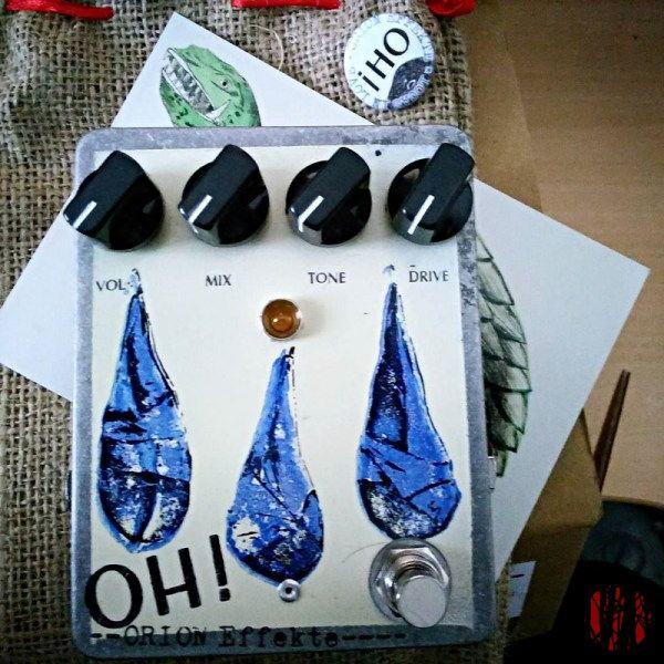 The Orion Effekt OH! guitar distortion pedal produced in association with the German band Locas In Love.